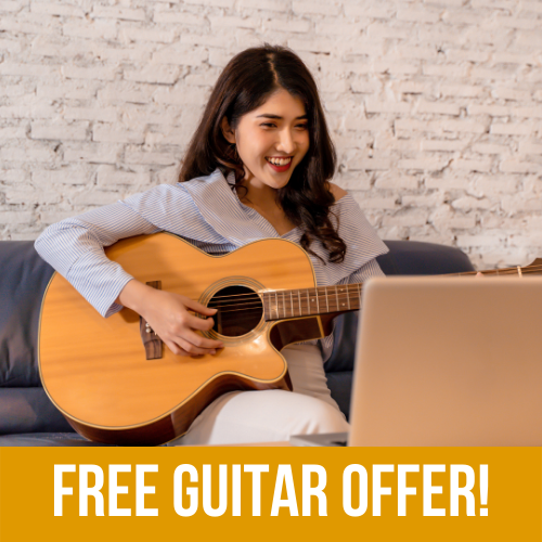 Special Offer: 6 Month Online Guitar Lesson Package with a FREE GUITAR! 5