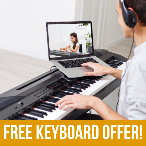 Special Offer: 6 Month Online Piano Lesson Package with a FREE KEYBOARD! 2