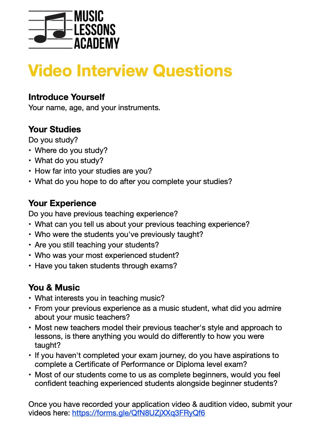 Job Interview Questions 1